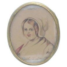 Vintage Women Portrait in Frame