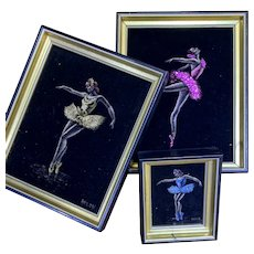 "Vintage ""Swan Lake Ballet"" Three Paintings by Helen Hilton Smith"