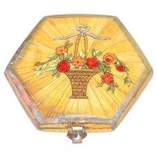 Vintage Floral Designed Mirror Compact