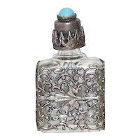 Vintage Floral Perfume Bottle