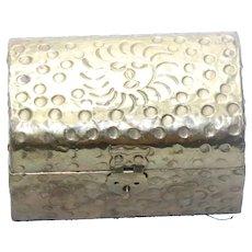Vintage Gold Tone Sun Jewelry Box