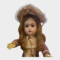 "13"" Jullien Bebe in Couture Dress & Bonnet, Original Boots & Chemise"