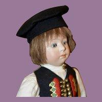 Fine All Original Gebr. Heubach Character Child in German Costume #7246