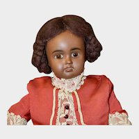 """Rare Brown 11"""" Bahr & Proschild 277 in Red Bebe Outfit"""