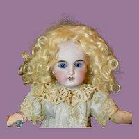 "Pretty 10"" Sonneberg w/Blue Glass Eyes"