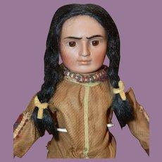 All Original Bahr & Proschild Native American Bisque Doll