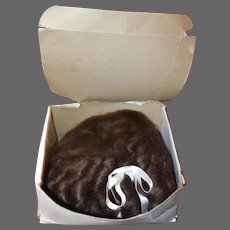 Large Brown Mohair Doll Wig in box, size 18, Never Used