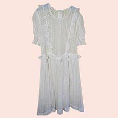 Edwardian White Lace Child's Dress for Big Doll