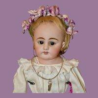 "17"" Simon & Halbig 1010 Lady Doll w/ Cork Pate & Original Wig"