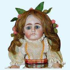 "Beautiful 12"" Sonneberg Mystery Doll marked BT"