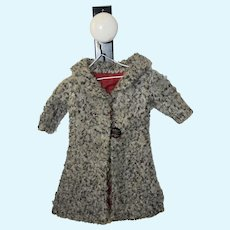 Grey Wool Coat for Antique Doll