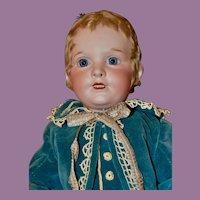 "18"" SFBJ 250 Boy Character Child in Blue Velvet Couturier Suit"
