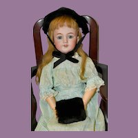 Vintage Beaver Fur Hat and Muff for Doll