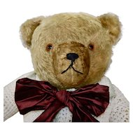 Big 1930s Bernard Hermann Gold Mohair Teddy Bear