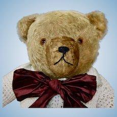 Big 1930s Bernard Hermann Gold Mohair Teddy Bear