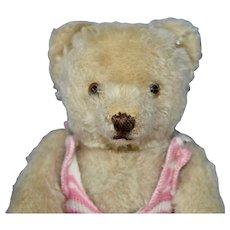 """Darling Little 8"""" White Mohair 50s Steiff Bear"""