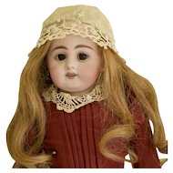 Simon & Halbig 1010 Lady Doll with Cork Pate & Original Wig, Clothes