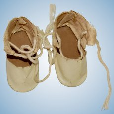 Vintage Beige Oilcloth Shoes
