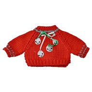 Pretty Red Sweater for Christmas, Hand Knitted