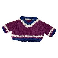 Pretty Purple Sweater, Hand Knitted