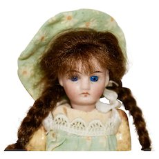"5"" Belton Bisque Head Doll with Long Auburn Braids"