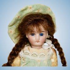 "5"" Belton Bisque Head Doll with Long Auburn Braids"