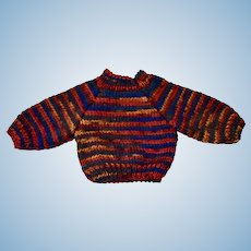 Striped Hand Knitted Sweater, Very Unusual
