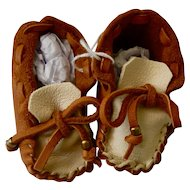Leather Moccasins from Asheville, NC (Indian Made)