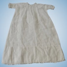 Small Vintage White Gown for Baby Doll