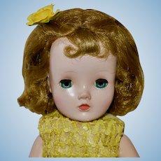 "14.5"" Winnie Walker by Madam Alexander, C 50s, Tagged Dress"