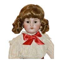 "Sweet 29"" Simon & Halbig K*R in Antique White Cutwork Dress"