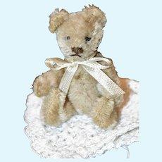 """4"""" 50s Steiff Miniature Jointed Mohair Bear"""
