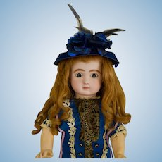 "Amazing 19"" Lever Eye Steiner, Big Dark Blue Eyes,"