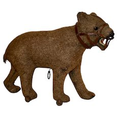 Early Wool over Mache Bear, Wheels on All Fours, C1880-90