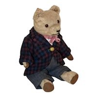 Rare German Muller Bear C 1913-1915, Mohair