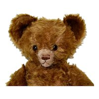 "Cute 13"" Knickerbocher Mohair Bear, C 30s-40s"