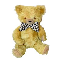 Musical Yellow Knickerbocher Bear with Label
