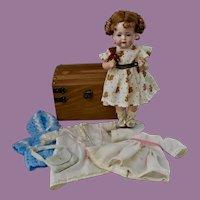 "Darling 11"" Bahr & Proschild Toddler, Trunk & Clothes"