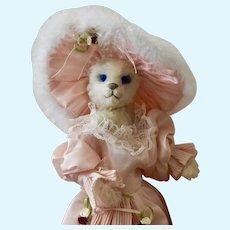 Georgia, Artist Dolly Bear, White Mohair, Full Armature