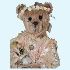 Missy, Pink Mohair Artist Dolly Bear with Full Armature
