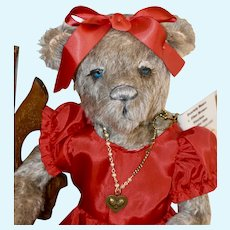 Sadie, Mohair Artist Lady Bear with Full Armature