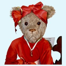 Valentine, Mohair Artist Lady Bear with Full Armature