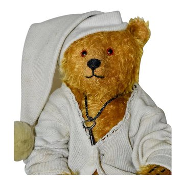 "Nugget, 11.5"" Mohair Artist Bear in Antique Gown"