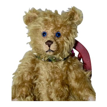 Dudly, Artist Mohair Character Bear with Blue Eyes