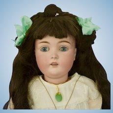 "Pretty 28"" Kestner 171 with Blue Eyes and Dark Hair"