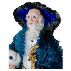 Artist Santa, Midnight Father Christmas, with Owl & Silver Fox