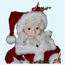 Jolly Elf Santa, Artist Santa Ball-Jointed Doll