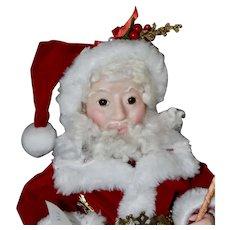 Jolly Elf Santa, Artist Santa Ball-Jointed Doll