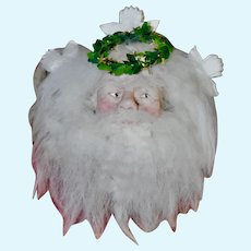 Artist Sculpted Santa Plaque or Ornament, One of a Kind