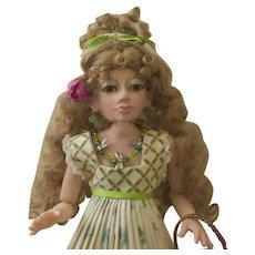 Summer, OOAK Polymer Clay Art Doll, BJD